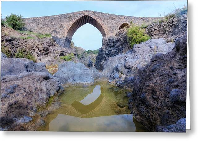 Ponte Dei Saraceni - Sicily Greeting Card