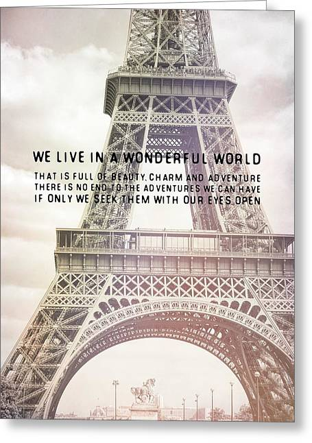 Ponte D'lena Sculpture Quote Greeting Card by JAMART Photography