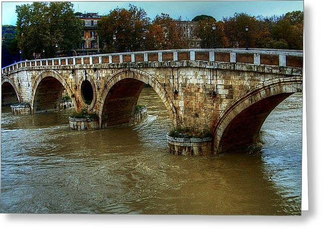 Ponte Sisto Bridge Rome Greeting Card