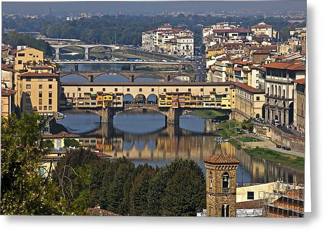 Arno Greeting Cards - Ponte Vecchio - Florence Greeting Card by Joana Kruse