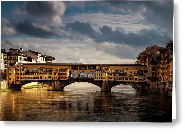 Ponte Vecchio Greeting Card by Andrew Soundarajan