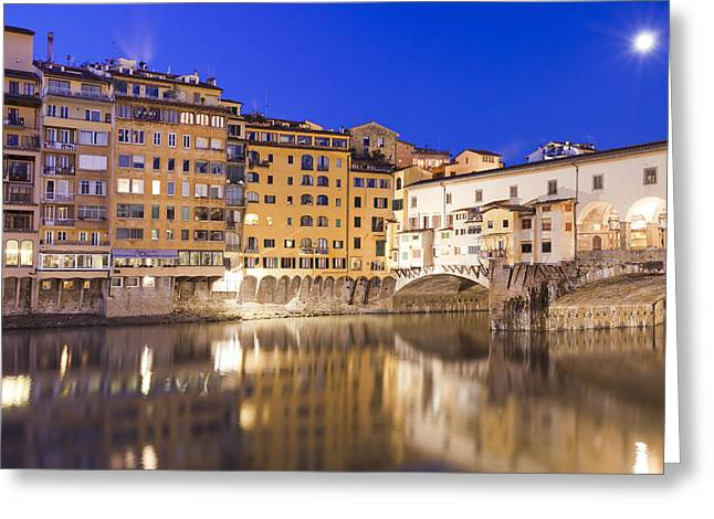 Ponte Vecchio At Night Greeting Card