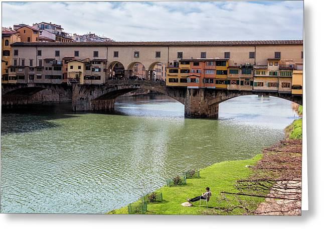 Greeting Card featuring the photograph Ponte Vecchio Florence Italy II by Joan Carroll