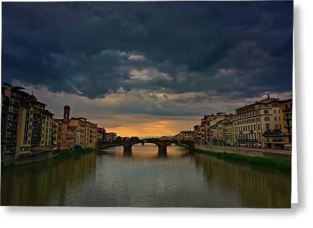 Ponte Vecchio Greeting Card by Lisa OConnor