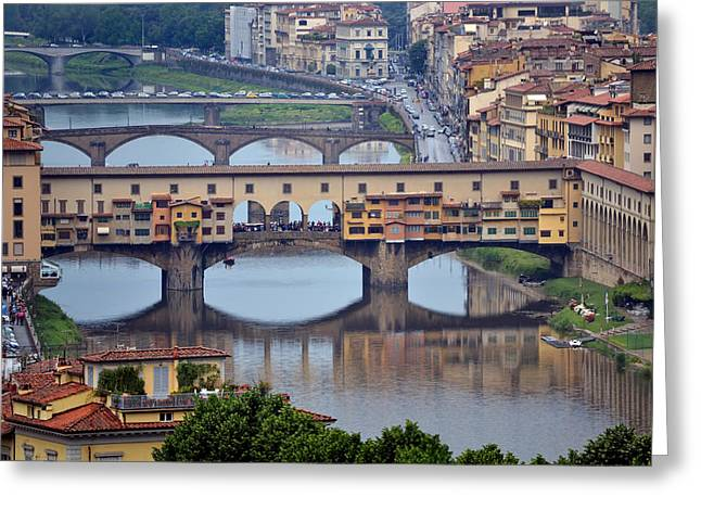 Ponte Vecchio Greeting Card by Terence Davis