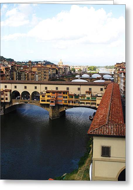 Ponte Vechio Florence Greeting Card by Mathew Lodge