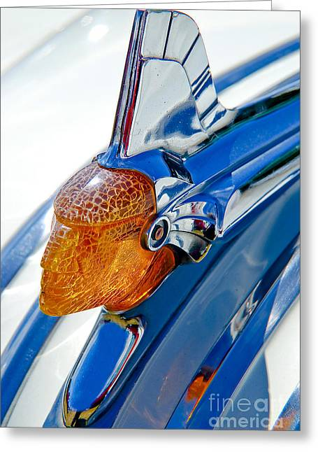 Pontiac Art Deco Hood Ornament Greeting Card