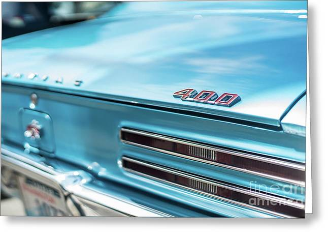 Pontiac Firebird 400 Closeup Greeting Card