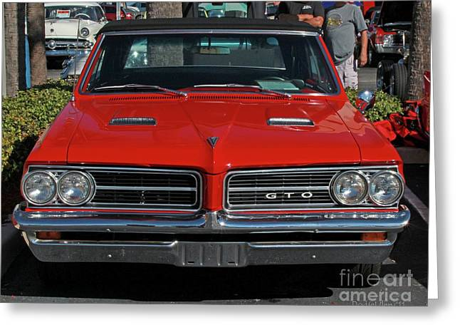 Greeting Card featuring the photograph Pontiac Gto by Dodie Ulery
