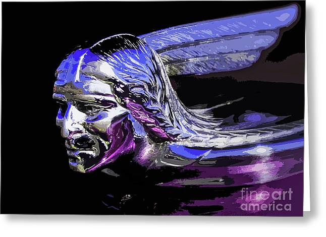 Pontiac Indian Head Hood Ornament Greeting Card by Patricia L Davidson