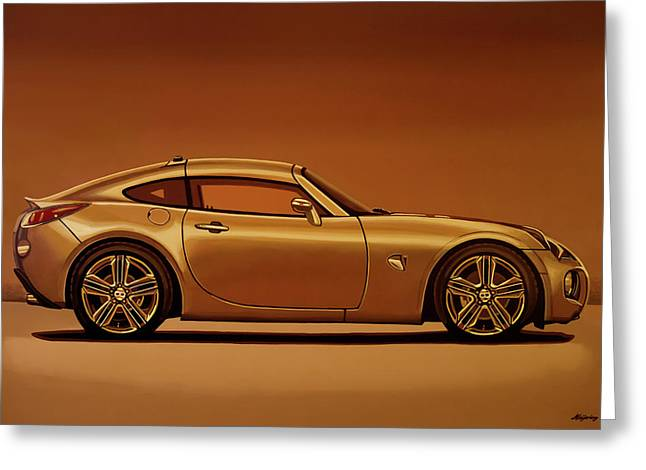Pontiac Solstice Coupe 2009 Painting Greeting Card