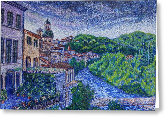 Pontremoli - Italy Greeting Card by Kathie Nichols