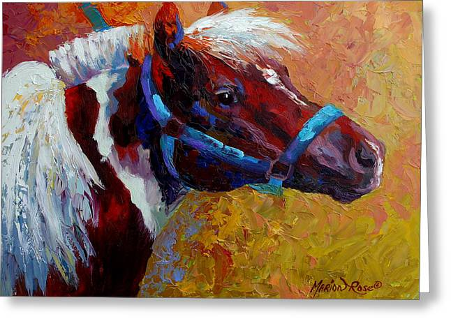 Pony Boy Greeting Card by Marion Rose
