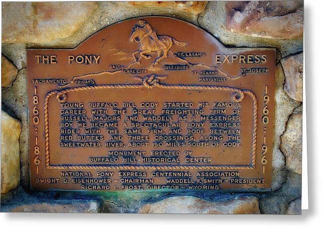 Pony Express 100 Year Plaque Greeting Card