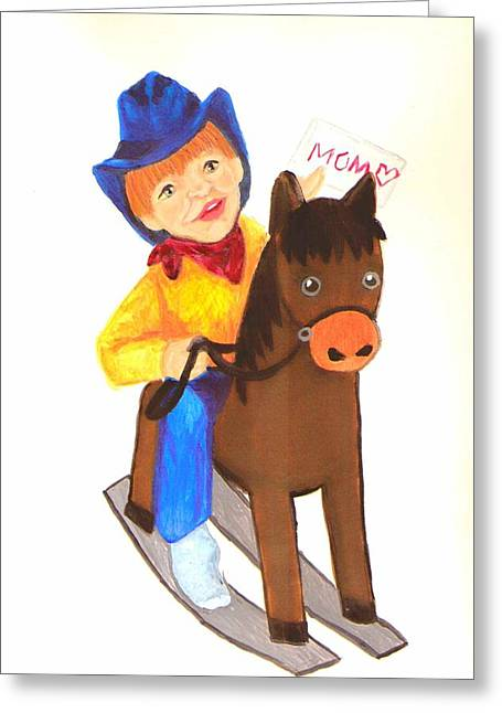 Pony Express Greeting Card by Jeanette Lindblad