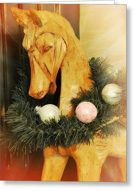 Pony For Christmas Greeting Card by JAMART Photography