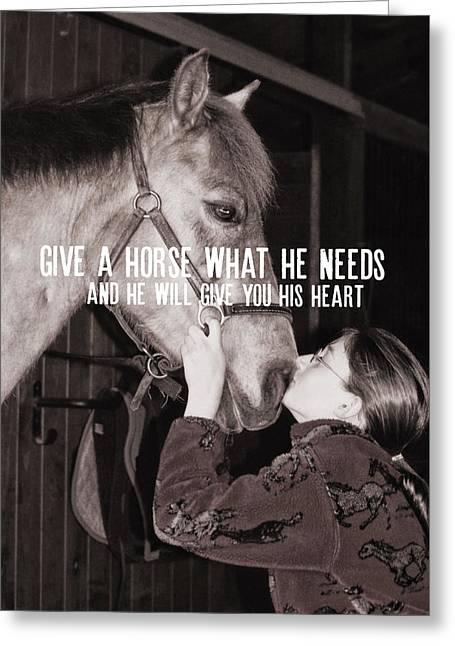 Pony Love Quote Greeting Card