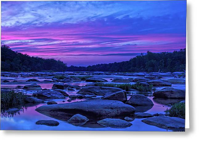 Pony Pasture Sunset Greeting Card