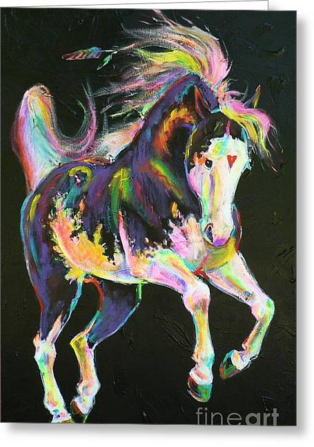 Pony Power I Greeting Card by Louise Green