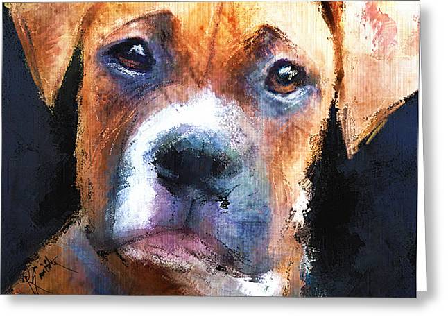 Pooch Greeting Card by Robert Smith
