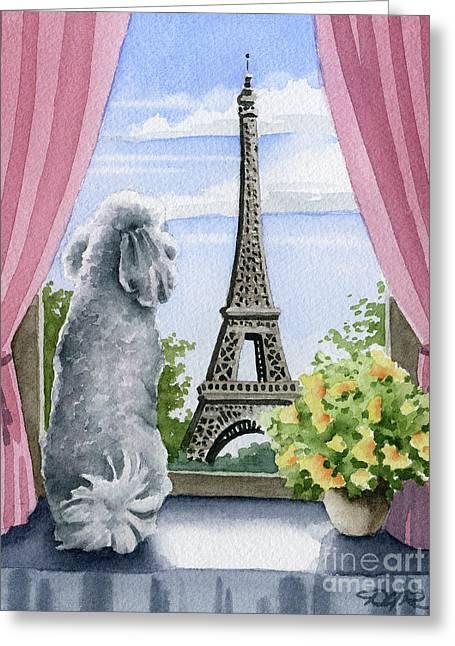 Poodle In Paris Greeting Card