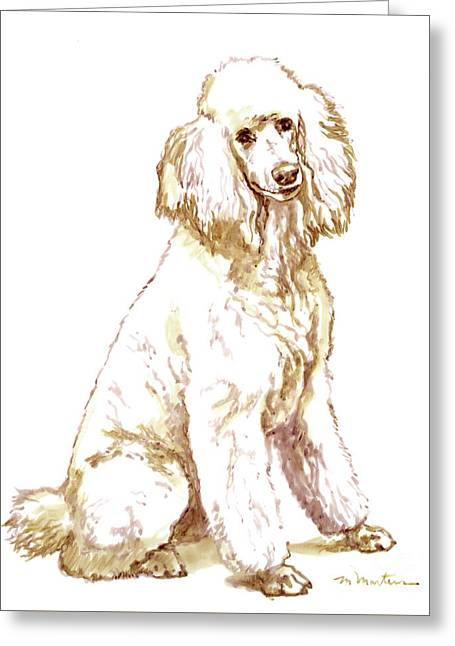 Poodle Greeting Card by Meridith Martens