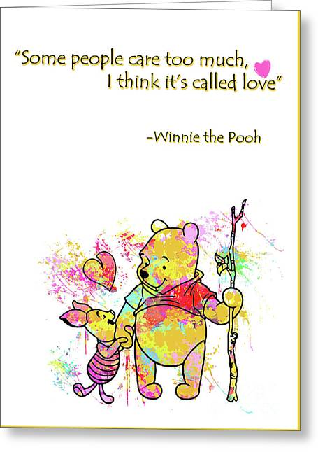 Pooh - Cute Love Quotes Greeting Card