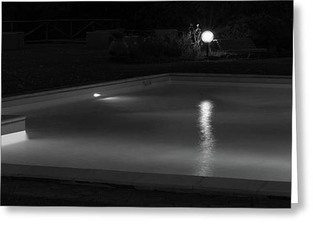 Pool At Night 2 Greeting Card