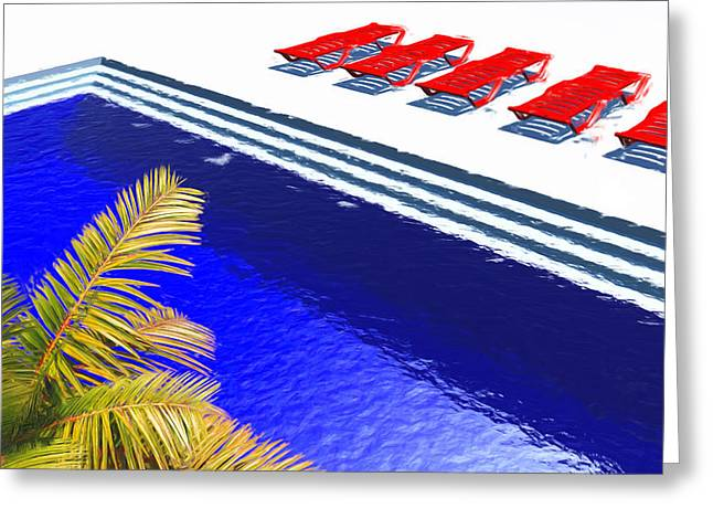 Pool Deck Greeting Cards - Pool Deck Greeting Card by Richard Rizzo