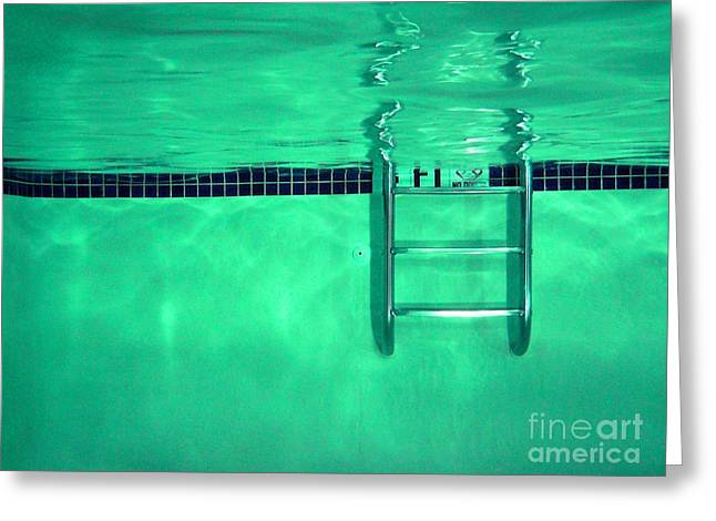 Pool Ladder Greeting Card by Ben Schumin