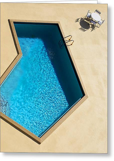 Pool Modern Greeting Card by Laura Fasulo