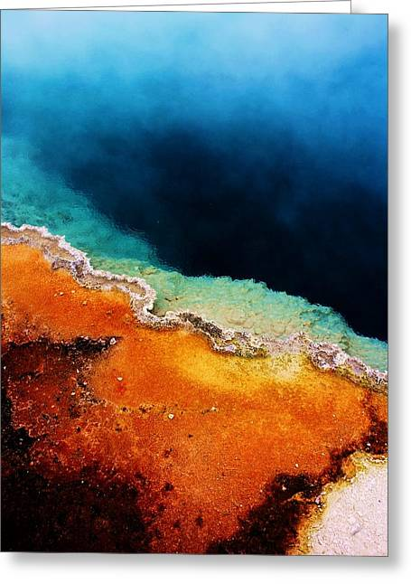 Pool Of Many Colors Greeting Card by Russell  Barton