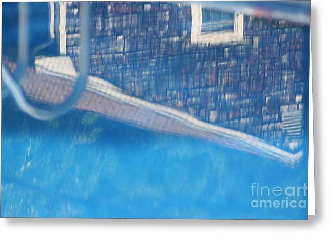 Poolhouse Greeting Card by Amy Holmes