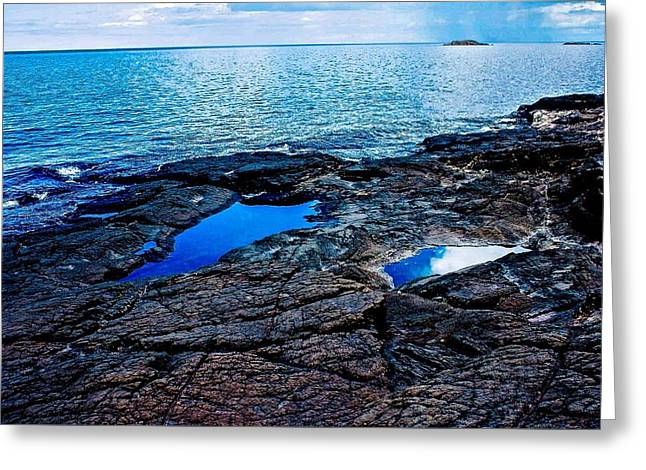 Pools On Black Rocks 2 Greeting Card by Kendall Tabor