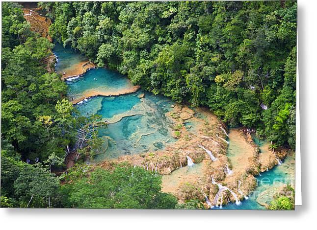 Natural Pool Greeting Cards - Pools panorama Greeting Card by Yuri Santin