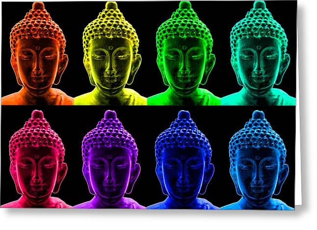 Pop Art Buddha  Greeting Card by Fabrizio Troiani