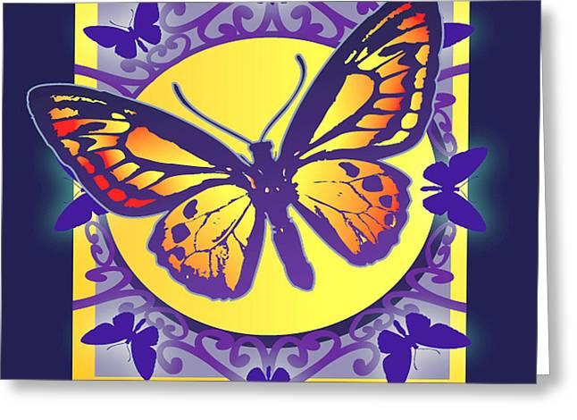 Pop Art Butterfly Greeting Card