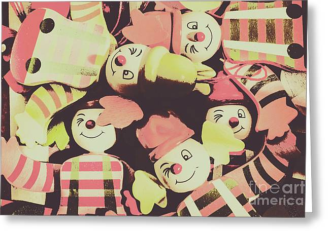Pop Art Clown Circus Greeting Card