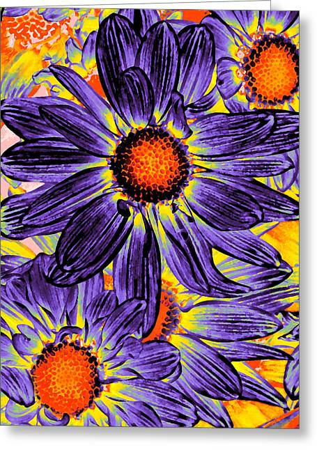 Pop Art Daisies 18 Greeting Card