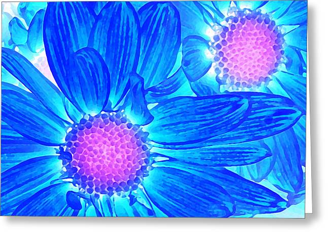 Pop Art Daisies 6 Greeting Card