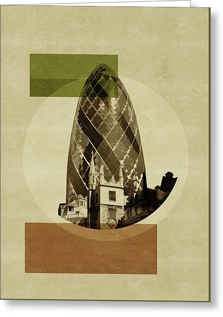 Pop Art Deco London - Gherkin Greeting Card