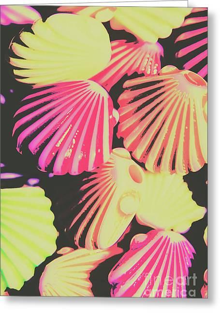 Pop Art From Fluorescent Beach Greeting Card