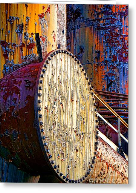 Pop Art Industrial  Greeting Card