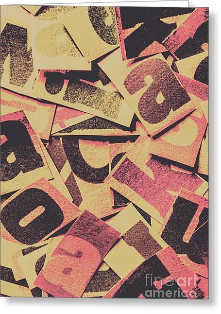 Pop Art Press Greeting Card