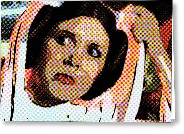 Pop Art Princess Leia Organa Greeting Card