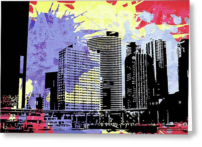 Pop City 12 Greeting Card by Melissa Smith