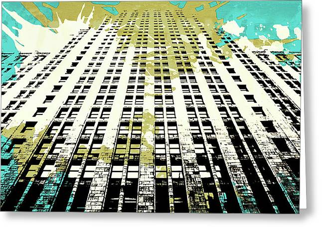 Pop City 18 Greeting Card by Melissa Smith