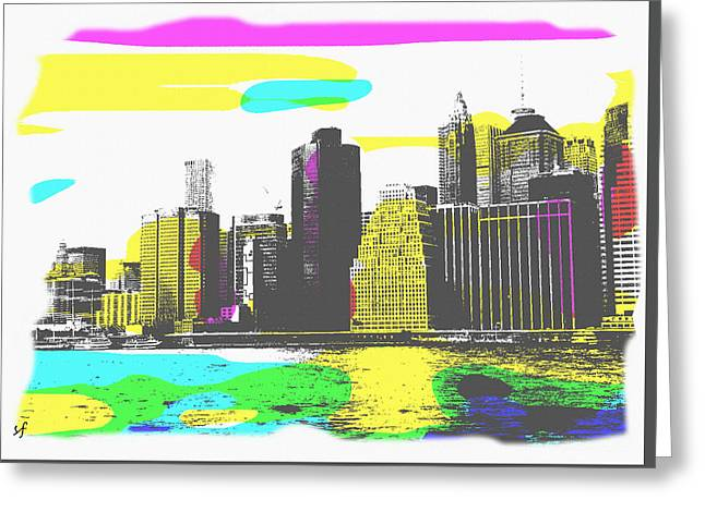 Pop City Skyline Greeting Card