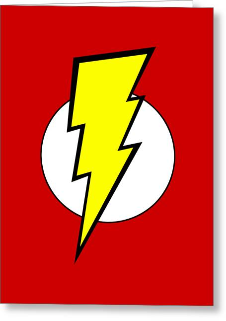 Pop Culture Geek Stuff Lightning Bolt Circle Design Greeting Card