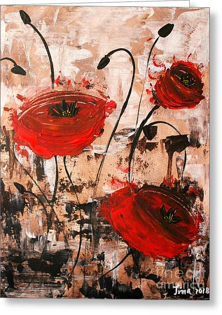 Pop Goes The Poppies Greeting Card